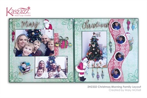 2H2332 Christmas Morning Family Layout