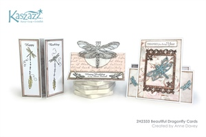 2H2333 Beautiful Dragonfly Cards