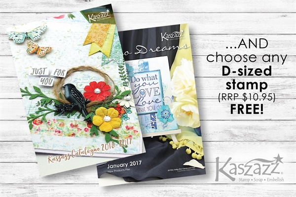 The Kaszazz Star Newsfeed - FREE D Stamp for each Sep16 Catalogue