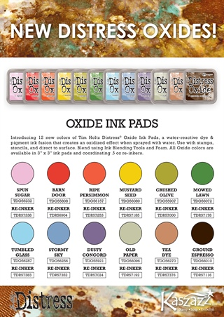 NEW Distress Oxide Inkpads and Gel Plates